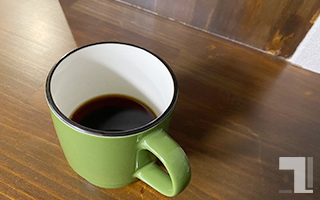 「K-Cupから粉だす」できあがり
