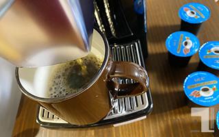 BS300でコーヒー抽出してる様子(ブルーマウンテン)