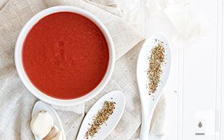 トマトスープとスパイス